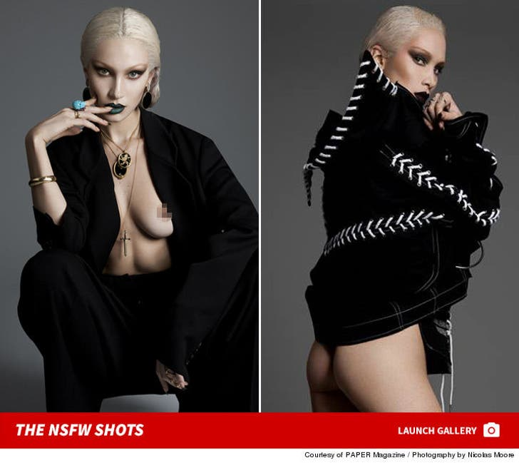 Bella Hadid's Paper Magazine Shots