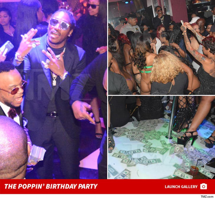 Future and His Boys Go Wild in ATL for Homie's Bday