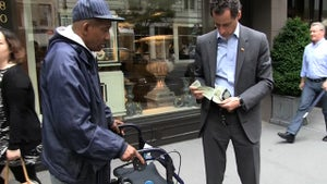 Anthony Weiner -- 2 Homeless Guys, 1 Dollar -- WHAT DO YOU DO???