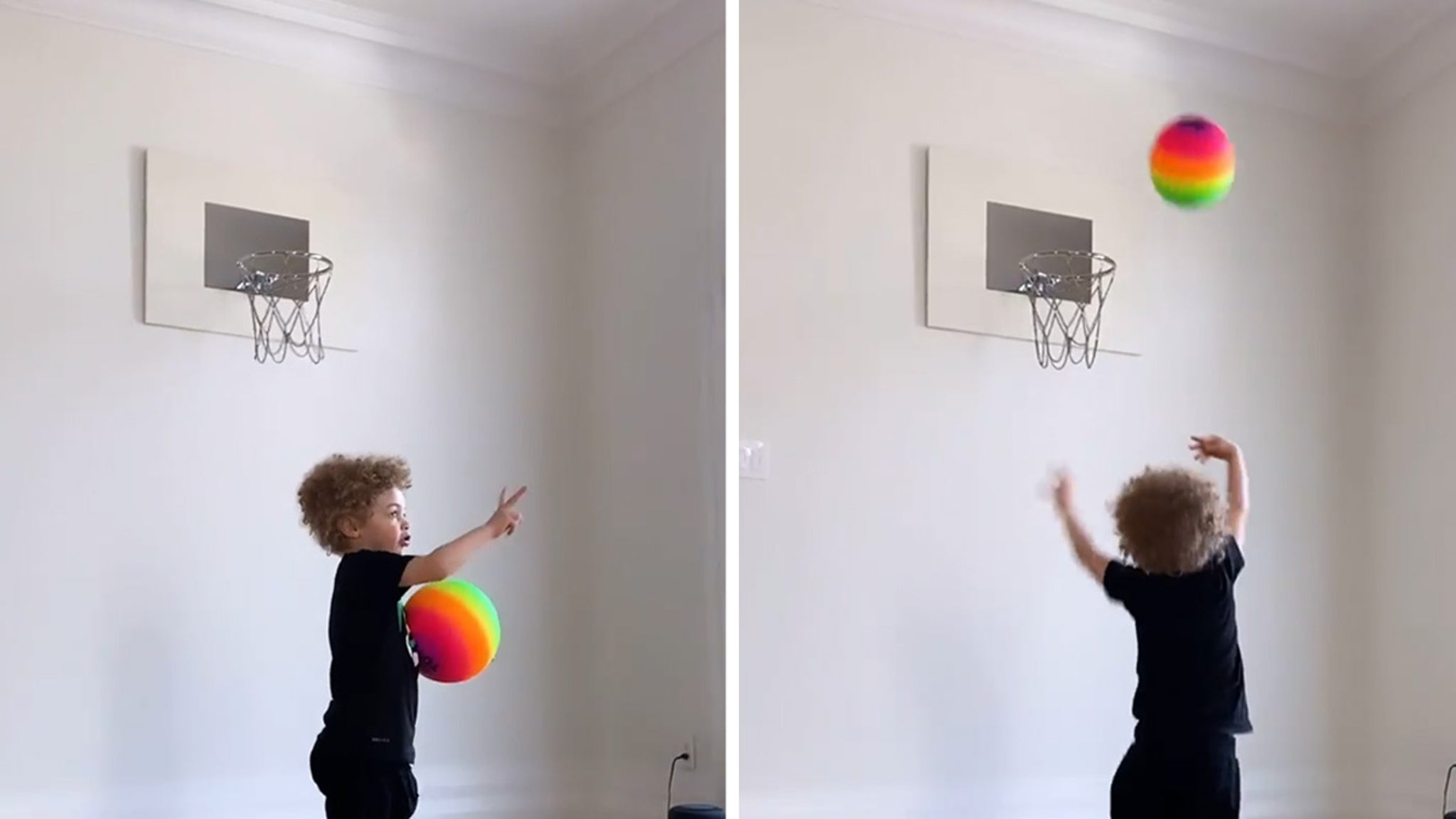 Drake Son Adonis Playing Basketball to His Music, Sinks 3 in a Row