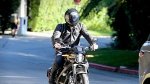 Ben Affleck Races Motorcycle to J Lo's L.A. House
