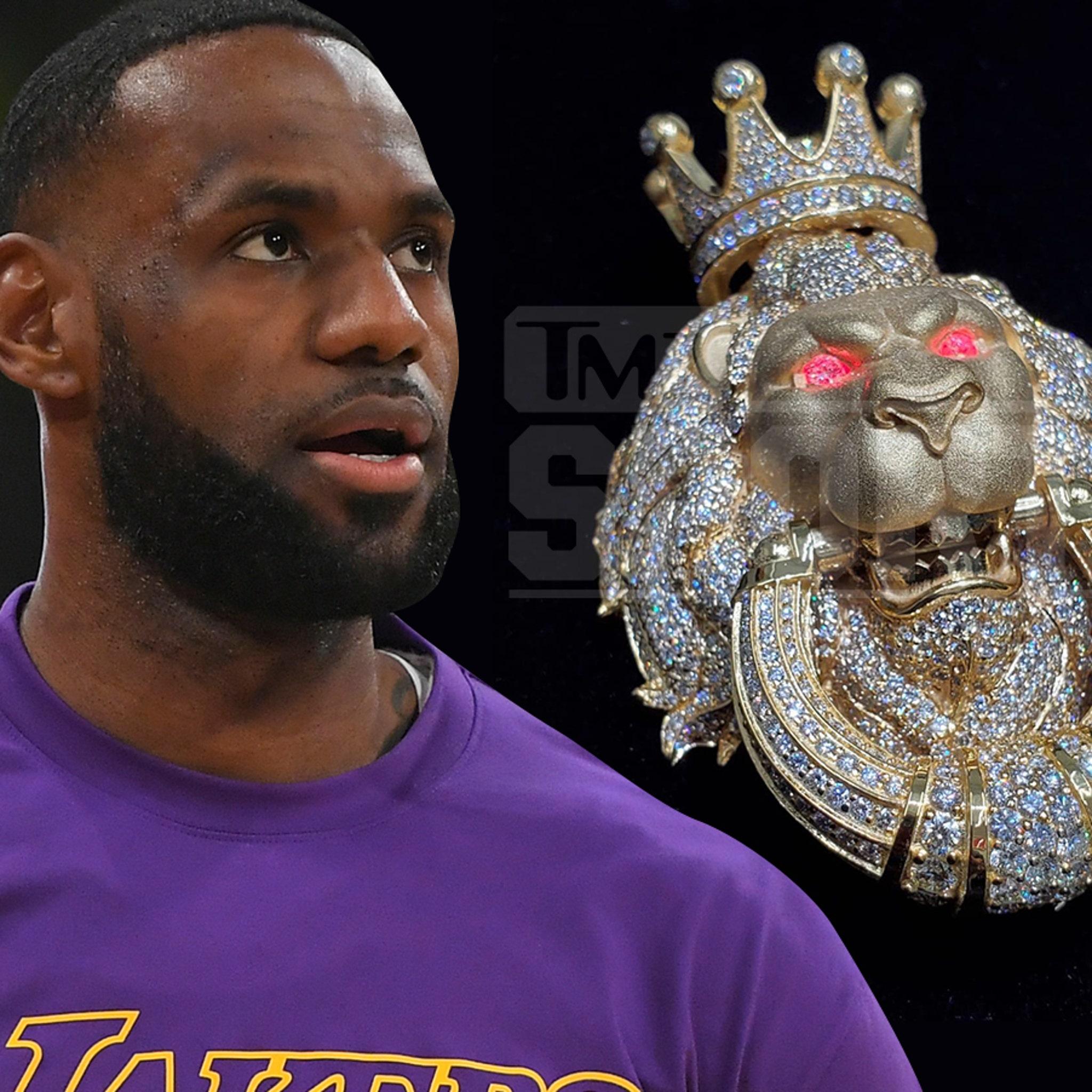 LeBron James Cops Incredible Light-Up Lion Gatekeeper Pendant