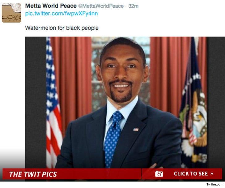Metta World Peace's Presidential Twit Pics