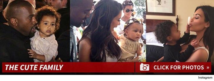 Kim Kardashian and Kanye West's Cute Family
