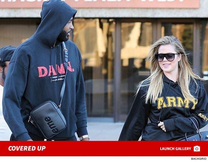 Khloe Kardashian and Tristan Thompson Hangin' Loose At 3 Months Pregnant