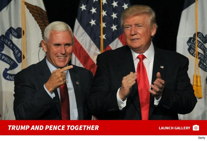 Mike Pence and Trump -- Best Buds