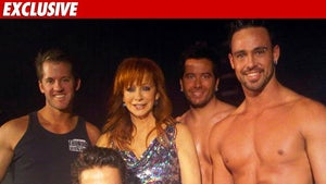 Reba McEntire -- Surrounded By Male Strippers
