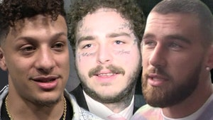 Post Malone Reveals Pic of Patrick Mahomes, Kelce Tattoos After Beer Pong Bet