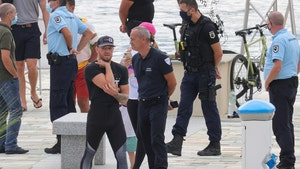 Conor McGregor Pics Show UFC Star Speaking with Police Near Yacht in Corsica
