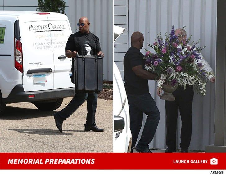 Prince--Memorial Preparations