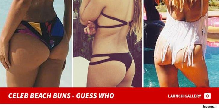 Celeb Beach Buns -- Guess Who!