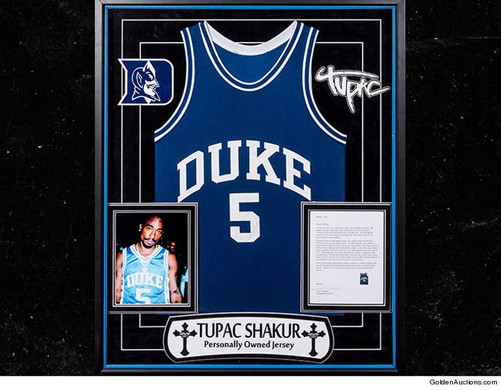 purchase cheap d9a20 6c1bc Tupac's Iconic Duke Jersey Hits Auction Block
