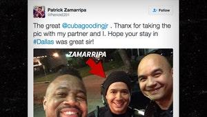 Dallas Assassinations -- Slain Cop's Chance Meeting with Cuba Gooding Jr. (PHOTO)