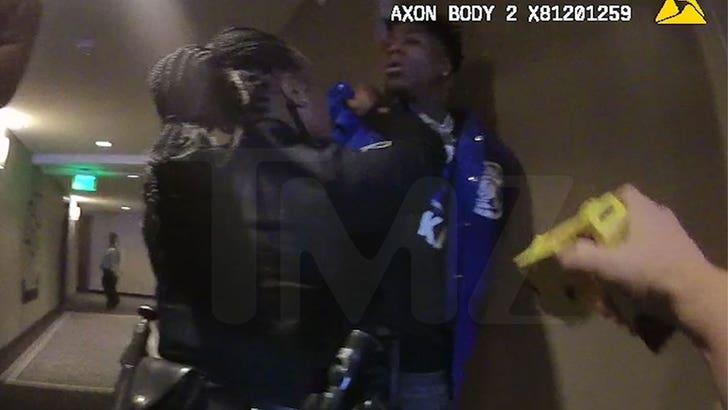 NBA YoungBoy Gets Taser Pulled on Him During Hotel Arrest