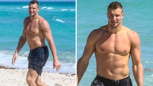 Rob Gronkowski Shows Off Ripped Body in Miami