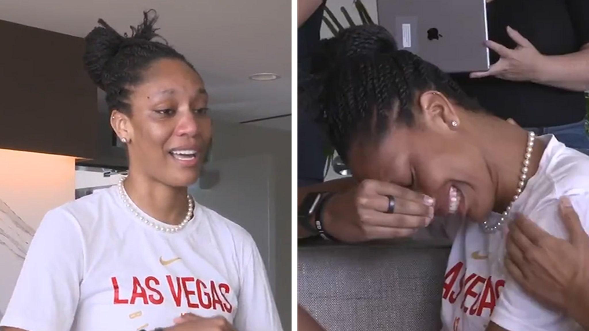 WNBA's A'ja Wilson Chokes Back Tears After Winning MVP ... So Many Doubted Us!!!