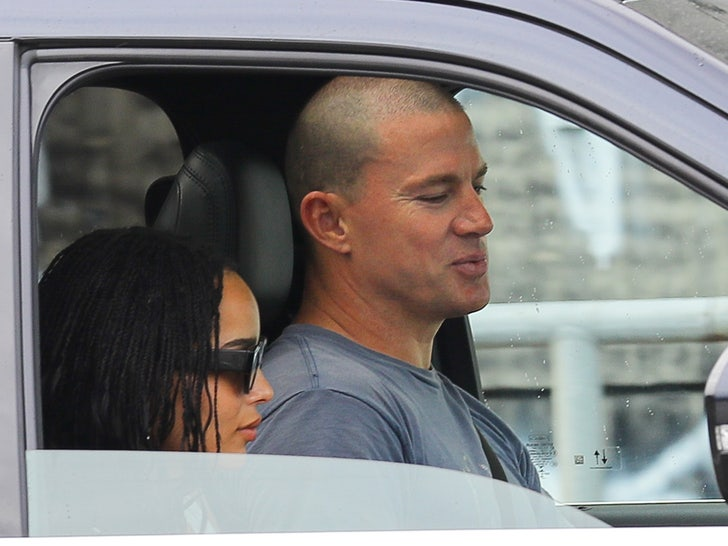Channing Tatum and Zoe Kravitz pack up and leave town