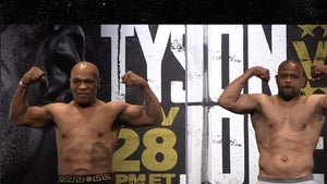 Mike Tyson Strips Down and Flexes at Weigh-In for Roy Jones Jr Fight, Ripped at 54!