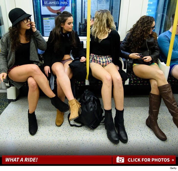Annual No Pants Subway Ride Day -- All Aboard!