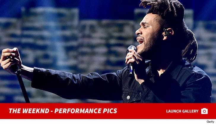 The Weeknd Performance Pics