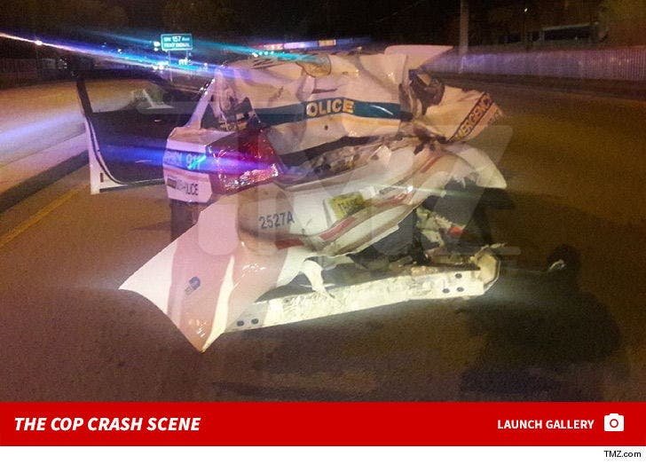 Justin Bieber Bodyguard -- The Cop Car Crash
