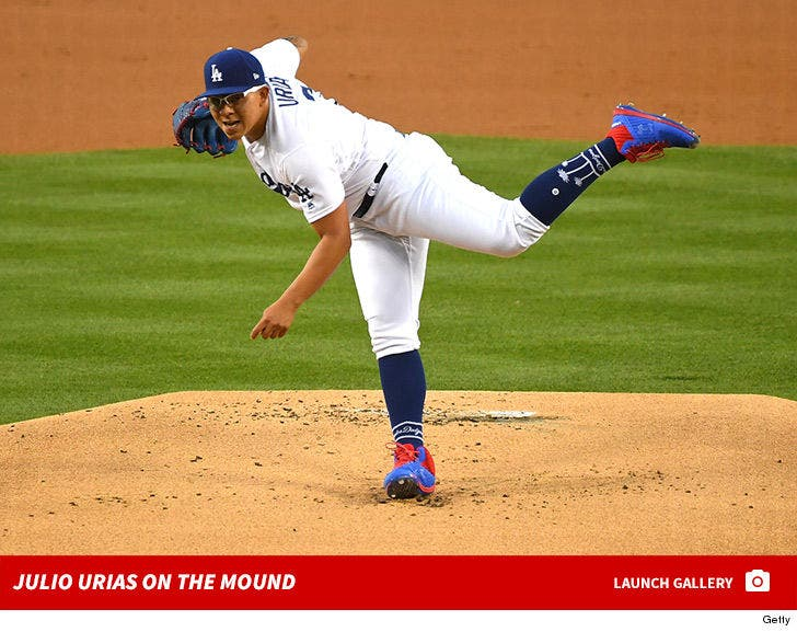 Julio Urias on the Mound