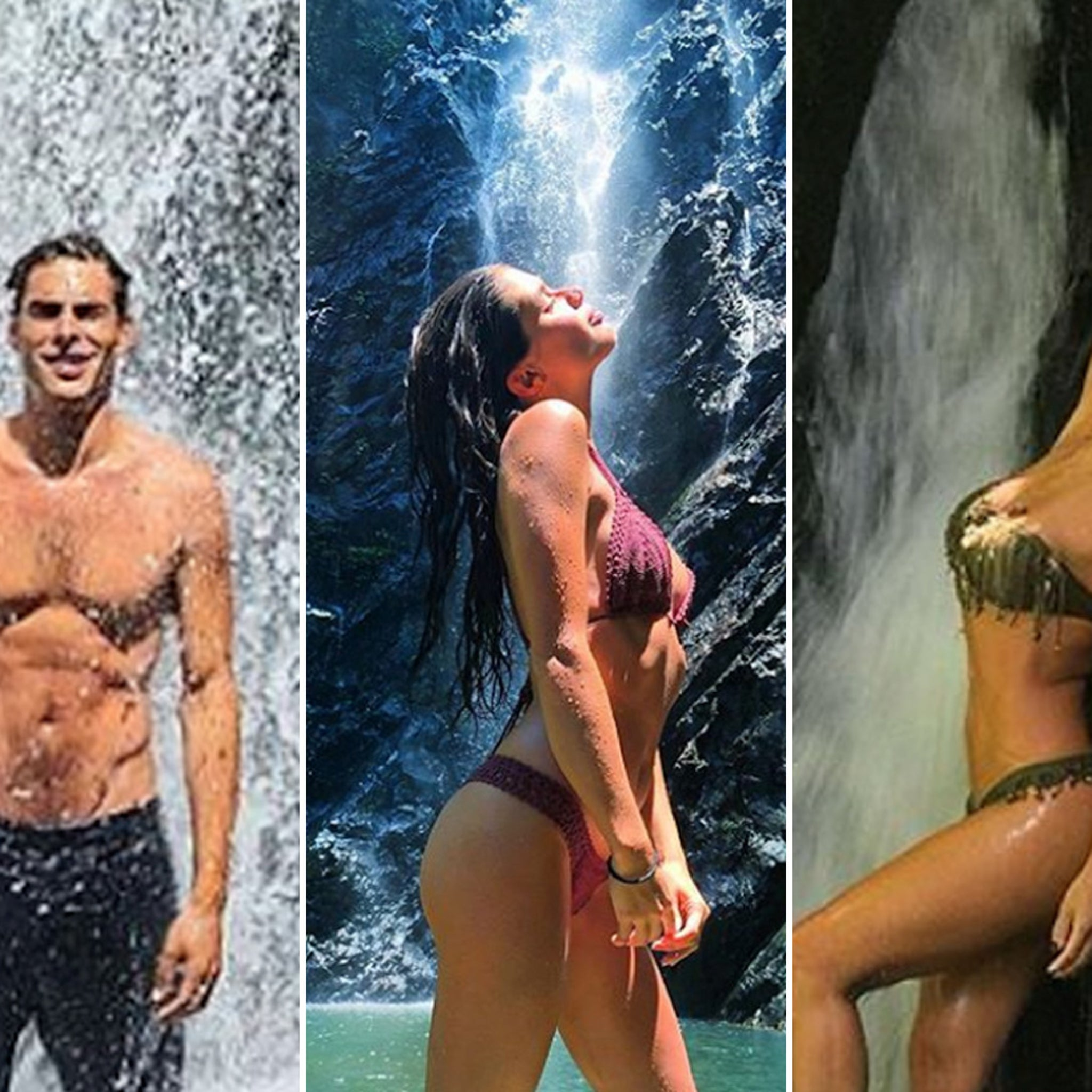 Waterfall For These Hot Stars!