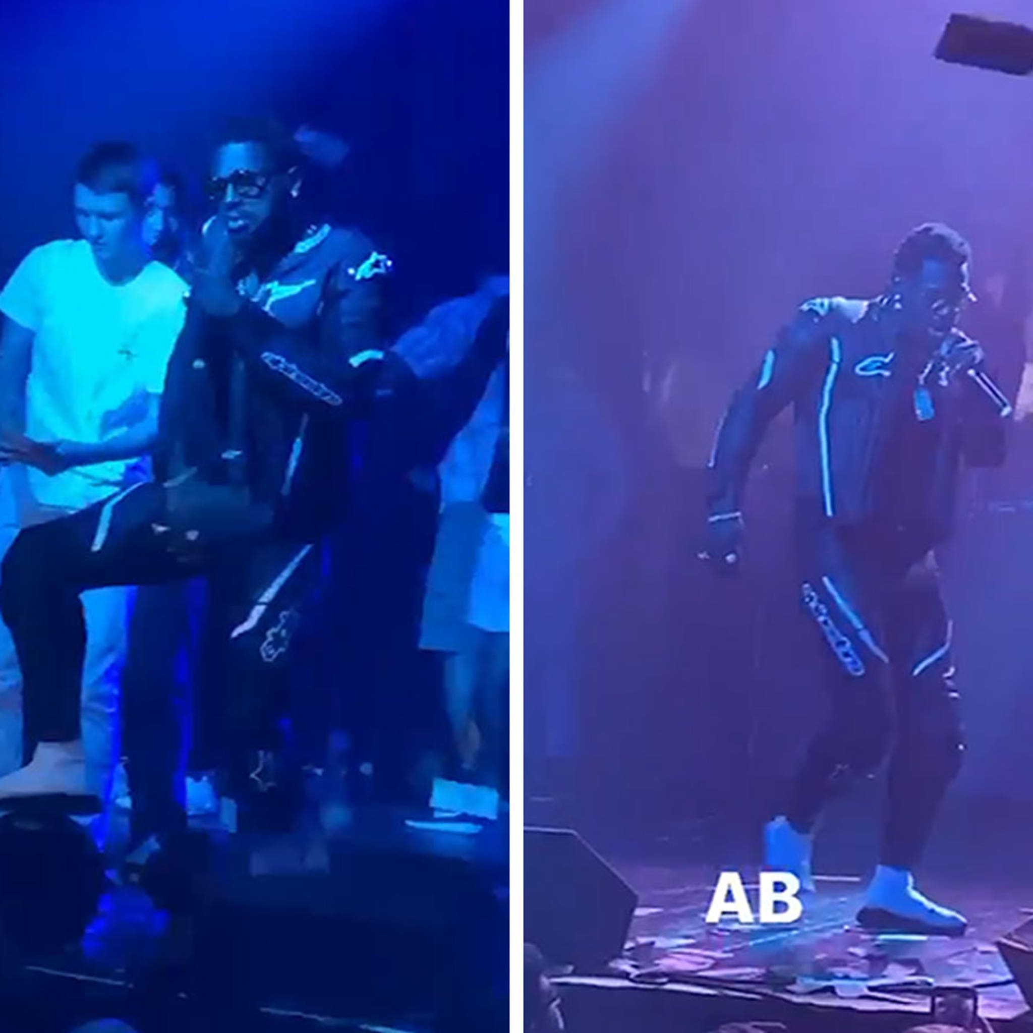 Antonio Brown Performs First Show in FL, Throws Cash Onstage