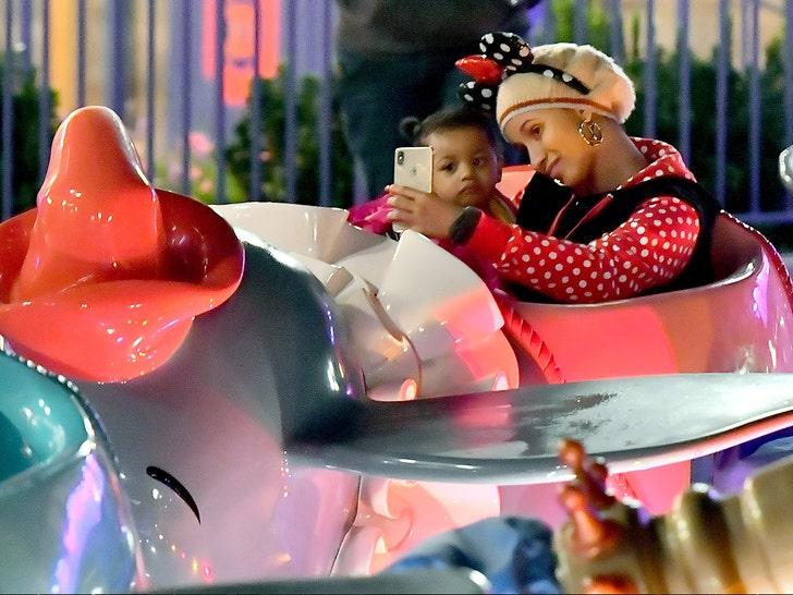 Cardi B at Disneyland with her daughter Kulture