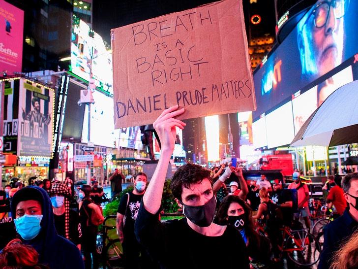 Daniel Prude Protest at Time Square