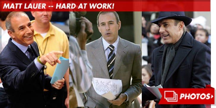 Matt Lauer -- Hard at Work!