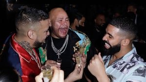 French Montana Does Shots with Drake and Fat Joe at Haute Living Party