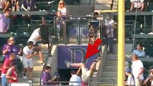 MLB Fan Crash-Lands On Head Diving For Home Run Derby Ball, Somehow Avoids Catastrophe