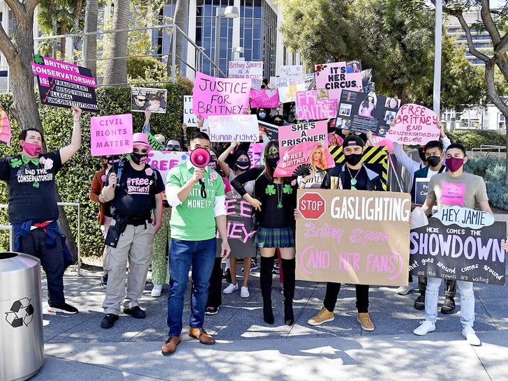 #FreeBritney Protest At LA Courthouse