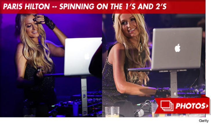 Paris Hilton -- Spinning on the 1's and 2's