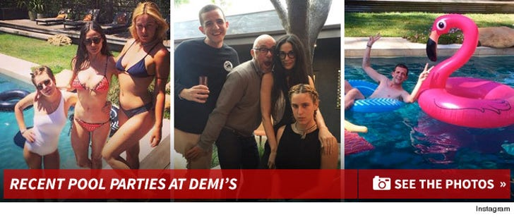Pool Parties at Demi's