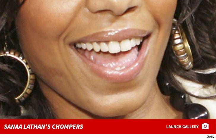 Sanaa Lathan's Chompers