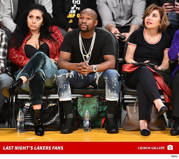 Last Night's Famous Lakers Fans