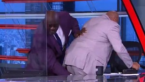 Shaq Massages Charles Barkley's Hammy During On-Air Cramp in Hilarious Video!