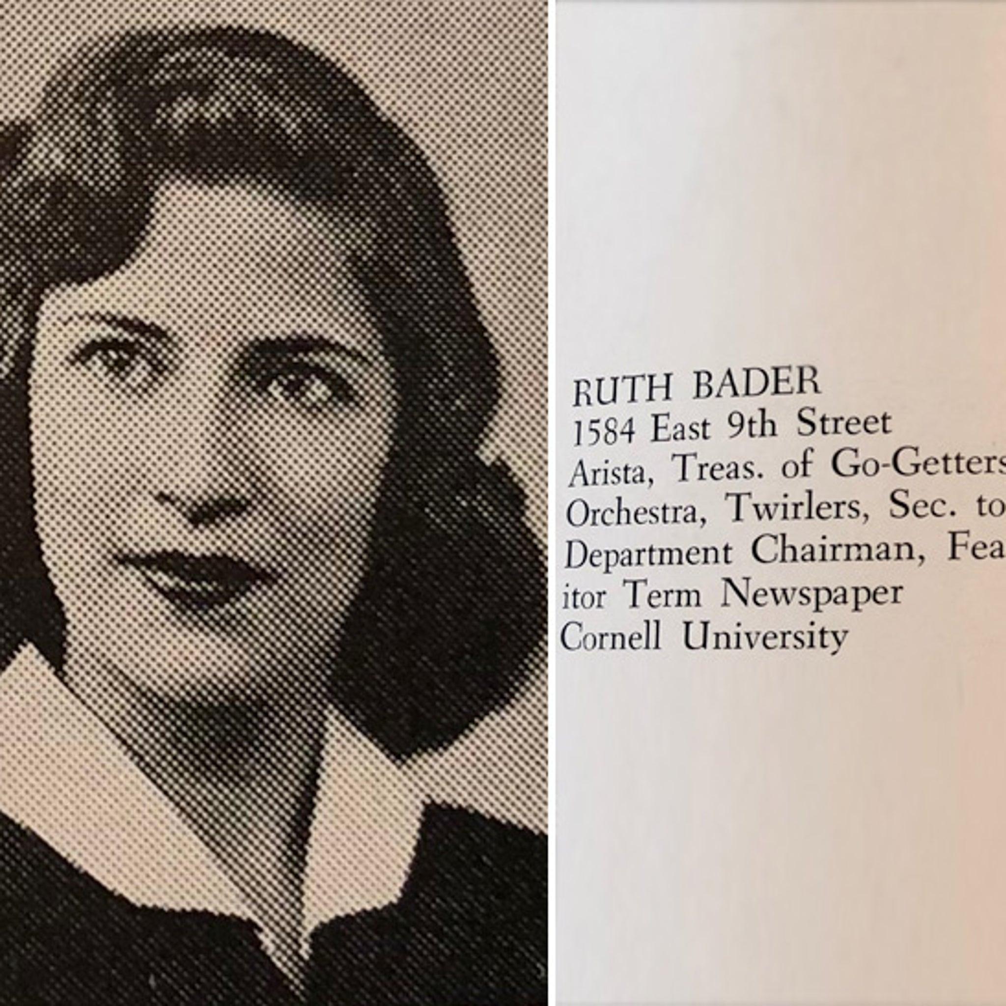 Ruth Bader Ginsburg Was a High School 'Twirler'