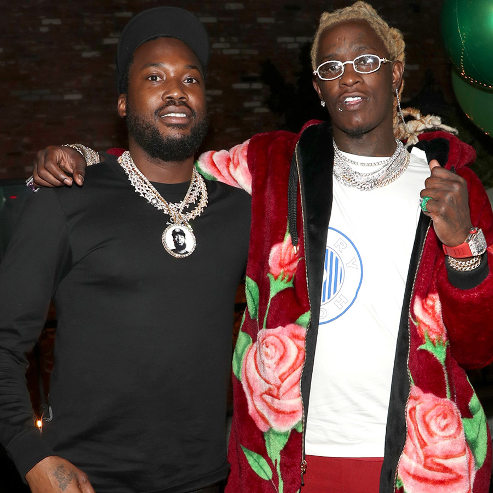 Young Thug Hosts Meek Mill at Birthday and Album Release Party