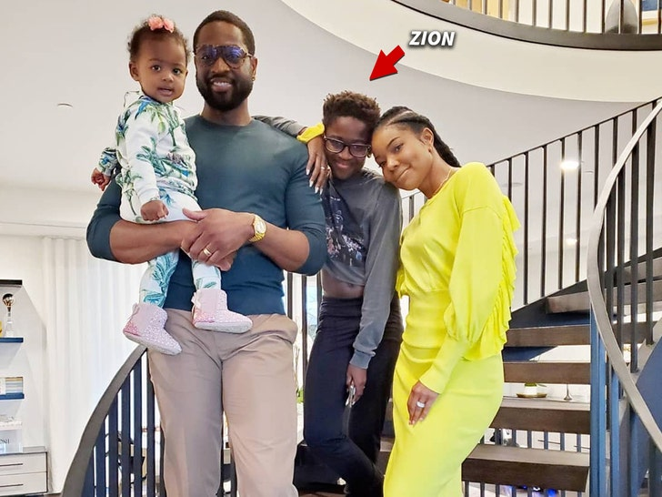 Dwyane Wade embraces son and LGBTQ community