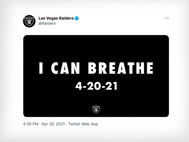 George Floyd's Brother 'Not Offended' By Raiders 'I Can Breathe' Post