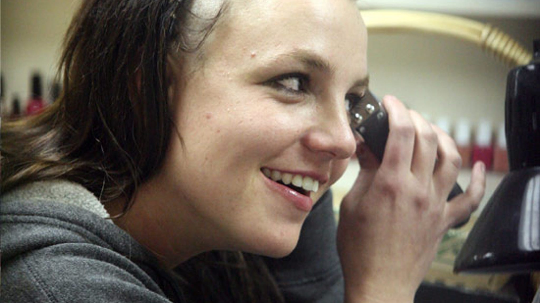 Britney head photo shaved spear
