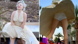 Marilyn Monroe Statue Unveiling Draws Protesters, Call It Misogynistic Eyesore