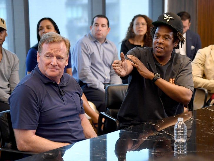 Roger Goodell and Jay Z -- Meeting of the Minds
