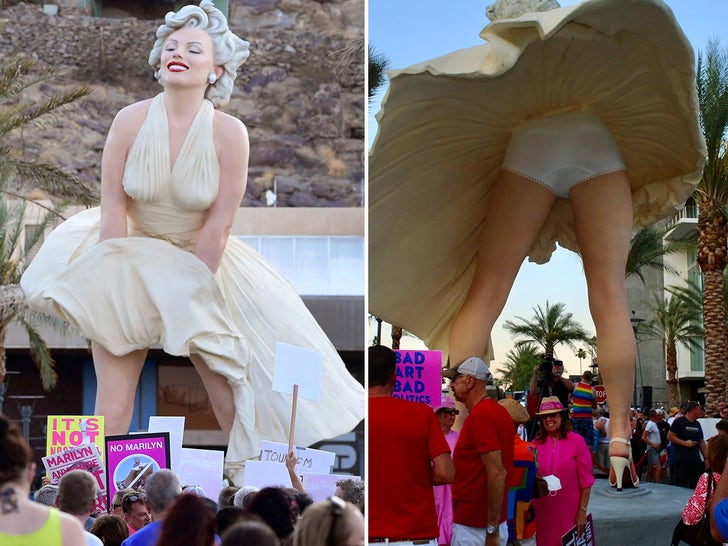 Marlilyn Monroe Statue Protest in Palm Springs