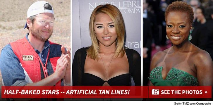 Half-Baked Stars -- Artificial Tan Lines!