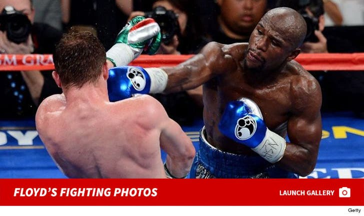 Floyd Mayweather's Fighting Photos