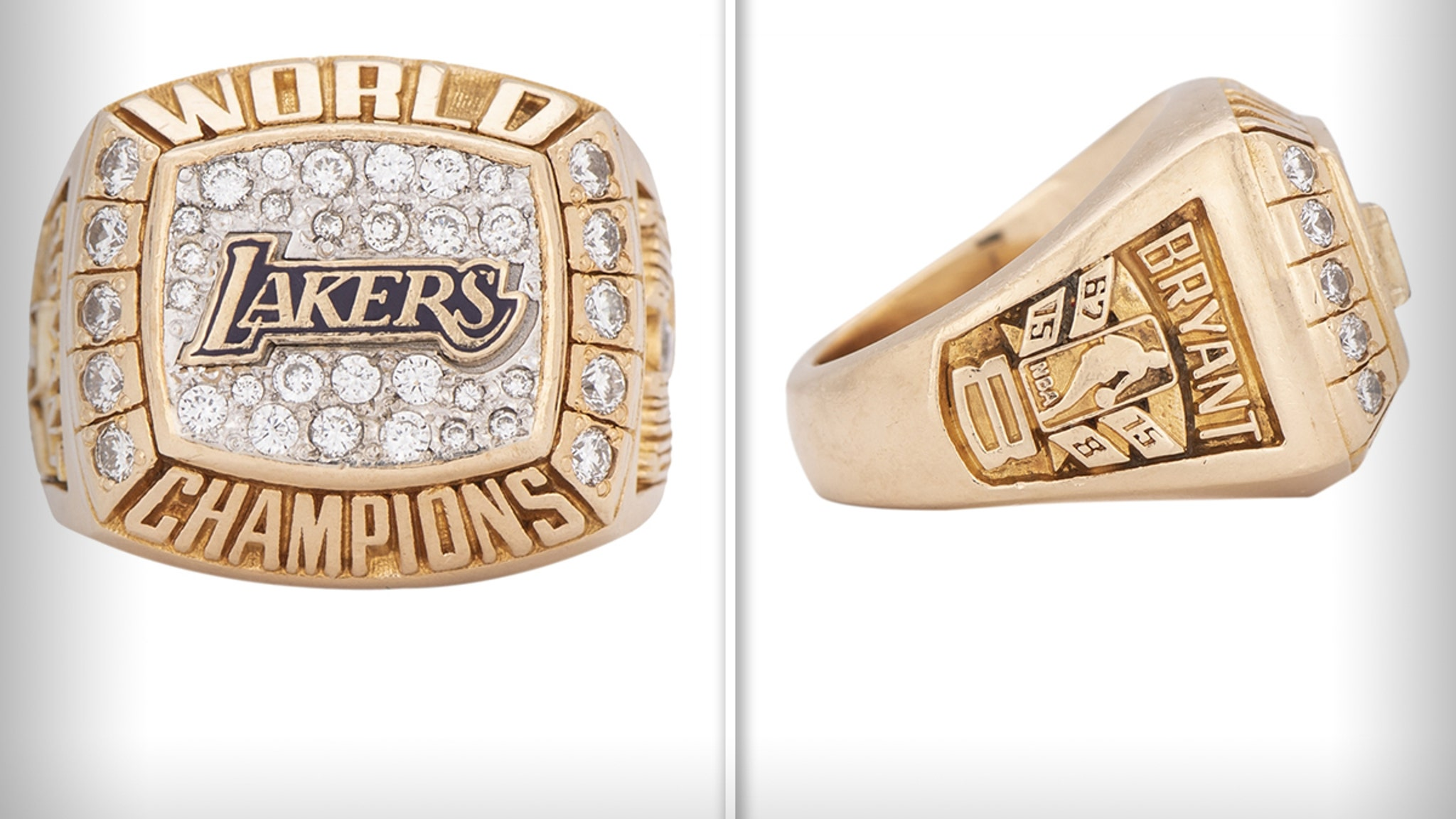 Kobe Bryant Lakers Ring He Gifted Mom ... Sells for $206k!!!